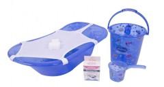 Sevi Bebe Şeffaf Desenli Bebek Banyo Setı (5 Parça) Şeffaf Mavi