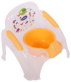Sevi Bebe Şeffaf Desenli Sandalye Lazımlık Naturel Şeffaf