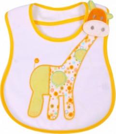 Sevi Bebe Yandan Cırtlı Mama Önlüğü Sarı
