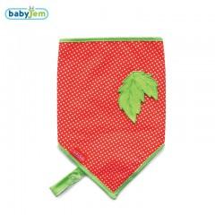 Babyjem Fular Önlük Emzik Tutacaklı Kırmızı