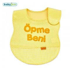 Babyjem Lüks Öpme Beni Mama Önlüğü Sarı