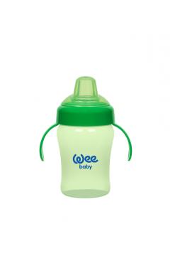 Wee Baby Akıtmaz Kulplu Biberon 240ml Yeşil