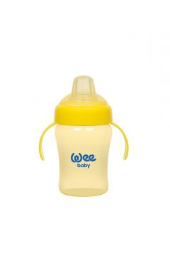 Wee Baby Akıtmaz Kulplu Biberon 240ml Sarı