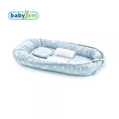 Babyjem Anne & Baba Yanı Yatağı Mavi Taçlı