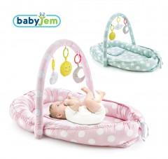 Babyjem Oyuncaklı Anne Baba Yanı Yatağı Yeşil