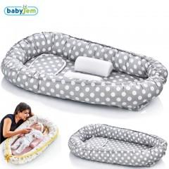 Babyjem Anne & Baba Yanı Yatağı Gri Puanlı