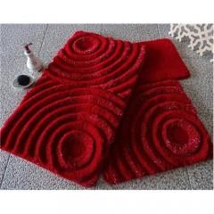 Alessia Akrilik Klozet Takımı Wave Kırmızı 3`Lü Set