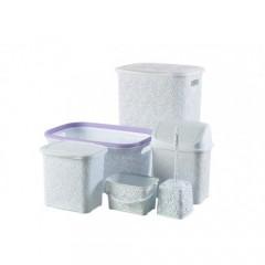 Banyo & Çeyiz Seti Dantel 6 Parça  6603S