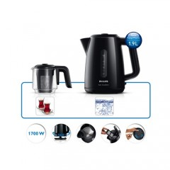 Philips Çay Ustası HD7301/00 1700W Çay Makinesi Siyah-2