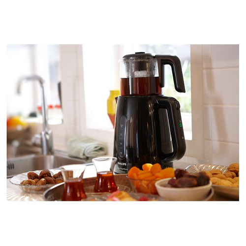 Philips Çay Ustası HD7301/00 1700W Çay Makinesi Siyah