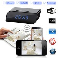 Masa Saati Şeklinde IP Full HD 1080P Wifi Alarmlı Kamera