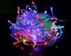 10 Metre 100 Led Çok Renkli Dekor Lambası