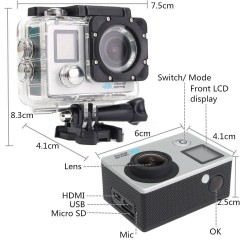 Kingboss SL-D215 4K Ultra HD Aksiyon Kamerası