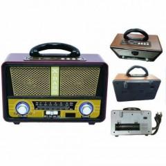 Bluetooth'lu Usb Girişli SD Kart Uyumlu Mp3 Nostalji Görünümlü Radyo