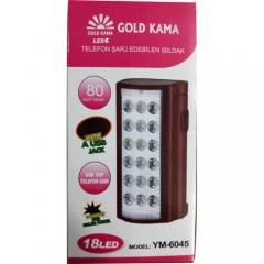 Gold Kama Telefon Şarj Edebilen Ledli Işıldak