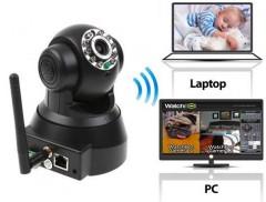 Hareket Sensörlü Gece Görüş Fonksiyonlu ve Alarmlı IP Kamera