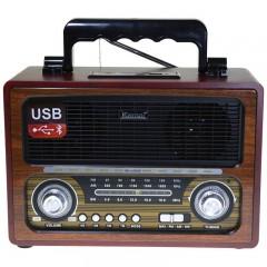 Kemai MD-1800BT Bluetoothlu Klasik Ahşap Nostalji Görünümlü Radyo