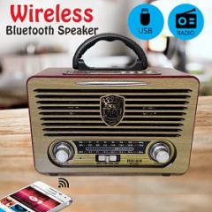 M-115 USB/SD Bluetooth Şarjlı Nostalji Görünümlü Radyo