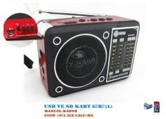 Mega MG-203U Usb Ve Kart Girişli 3 Band Manuel El Radyosu