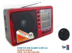 Mega Mg-308U Usb Ve Kart Girişli Manuel El Radyosu