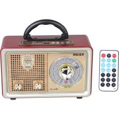 Meier M-110BT Nostaljik Retro Ahşap Fm Radyo-Usb-Sd Kart-Bluetooth