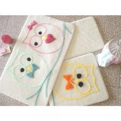 Alessia Home Baykuş Renkli 3'lü Banyo Takımı Seti