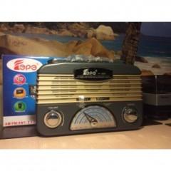 Nostalji Görünümlü Led Işıldaklı Fm Radyo-Usb TF Card Müzik Player