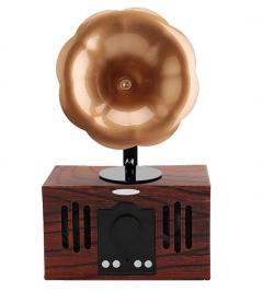 Nostalji Görünümlü Retro Gramofon Tasarımlı Bluetooth Müzik Çalar