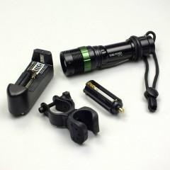 Zoomlu Tüfek Aparatlı Şarjlı El Feneri