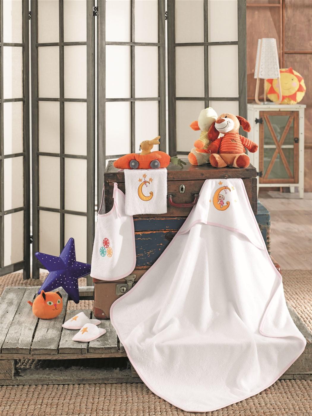 Z&R HOME Bambu 4 Parça Bebek Kundak Seti - Rabbit