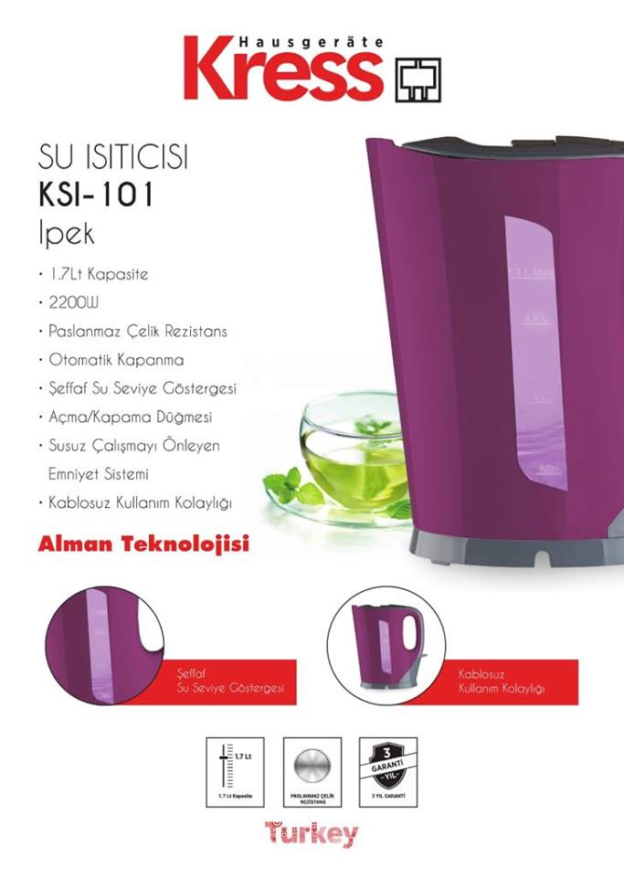 KRESS PLASTİK KETTLE