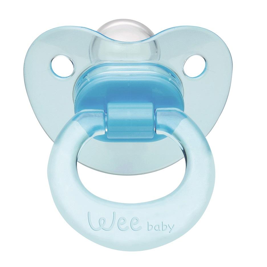 Wee Baby 112 Akide Damaklı Emzik 6-18 Ay - Mavi
