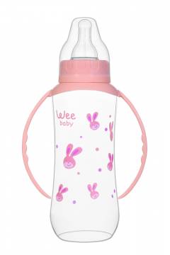 Wee Baby 745 Kulplu PP Biberon 270ml - Pembe-1