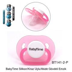 BabyTime Silikon Kiraz Uçlu Akide Gövdeli Emzik 6-18 Ay - Pembe