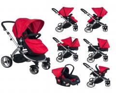 Maller Baby Valentina Travel Sistem Bebek Arabası - Kırmızı