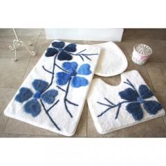 Kırçiçeği Mavi 3'lü Banyo Takımı Seti