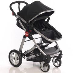Kanz Fernanda Silver Travel Bebek Arabası - Siyah