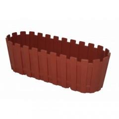 Poliwork Saksı Renkli Akasya Plastik Saksı 40cm Kahverengi VİP-29955