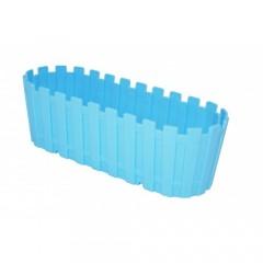 Poliwork Saksı Renkli Akasya Plastik Saksı 40cm Mavi VİP-29956