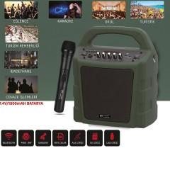 Kablosuz El Mikrofonlu Seyyar Ses Sistemi Magicvoice MV-10175AE