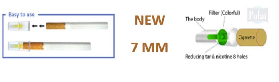 Pufai Slender Sigara Filtresi Katran Süzen 7 Mm Ağızlık 125 Adet