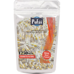 Pufai Slender Boy Sigara Filtresi 7mm Ağızlık 1250 Adet 1 Paket