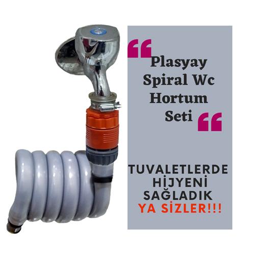 Plasyay Spiral Balkon Yıkama Hortum Seti 2.5 Metre