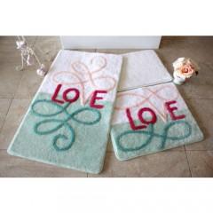 Alessia Home Eros Mint 3'lü Banyo Takımı Seti