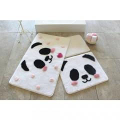 Alessia Home Panda 3'lü Banyo Takımı Seti