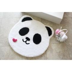 Alessia Home Panda Shape Yuvarlak Banyo Paspası