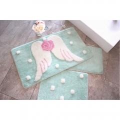 Alessia Home Melek Mint 3'lü Set Banyo Takımı