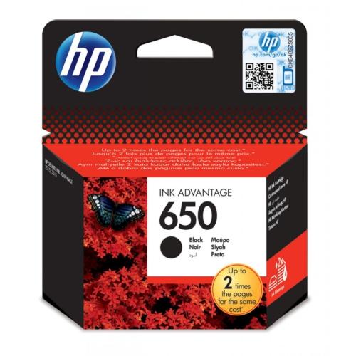 HP 650 CZ101A Siyah Orjinal Kartuş , HP Deskjet 2515 Siyah Orjinal Kartuşu