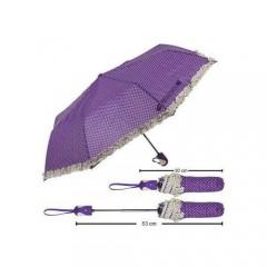Tam Otomatik Bayan Şemsiye Fırfırlı