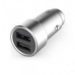 Xiaomi Araç Şarj Cihazı Gri Metal Tasarım 2 USB (3.6 A Hızlı Şarj)-0